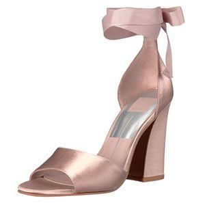 Dolce Vita Rose Satin Blush Pink Sandals Heels 6.5